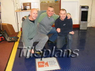 PVC Interlocking Line Tiles and Logo Marking System